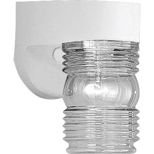 Polycarbonate Outdoor White One-Light Outdoor Wall Mount