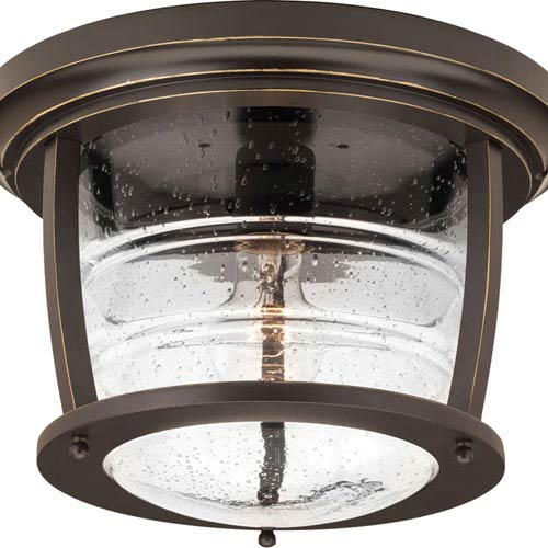 Outdoor ceiling lighting exterior light fixtures bellacor p5638 108 signal bay oil rubbed bronze one light outdoor flush mount aloadofball Image collections