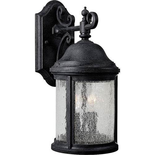 Progress Lighting P5649 31 Ashmore Textured Black Two Light Outdoor Wall Lantern