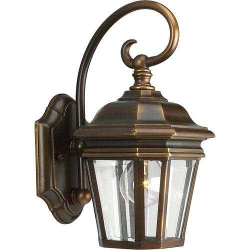 P5670-108:  Crawford Oil Rubbed Bronze One-Light Outdoor Wall Lantern