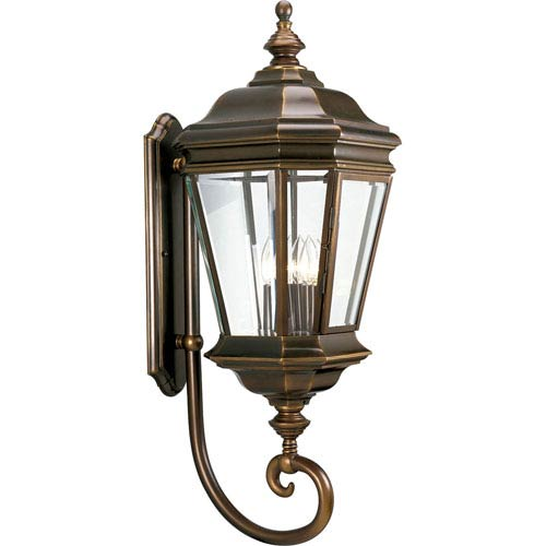 P5673-108:  Crawford Oil Rubbed Bronze Four-Light Outdoor Wall Lantern