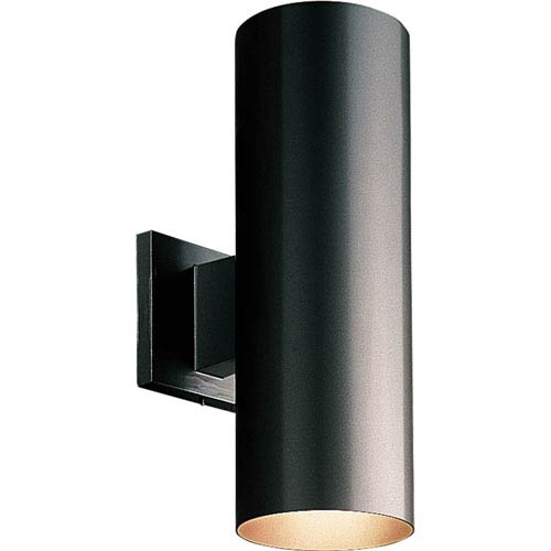 P5675-31/30K Black 5-Inch Two-Light LED Outdoor Wall Sconce