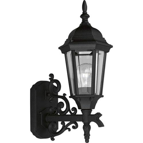 P5681-31:  Welbourne Textured Black One-Light Outdoor Wall Lantern
