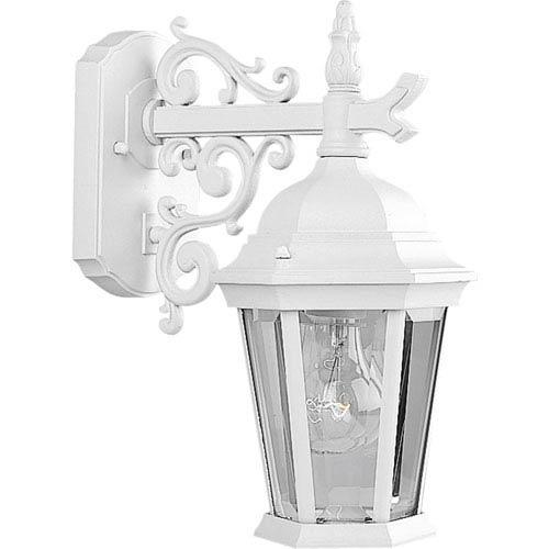 P5682-30:  Welbourne Textured White One-Light Outdoor Wall Lantern