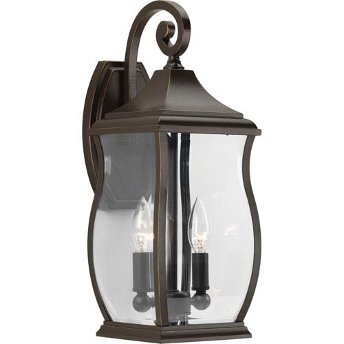 P5693-108 Township Oil Rubbed Bronze Two-Light Outdoor Wall Sconce