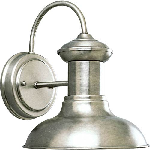 P5721-81:  Brookside Antique Nickel One-Light Outdoor Wall Lantern