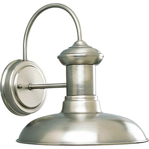 P5722-81:  Brookside Antique Nickel One-Light Outdoor Wall Lantern