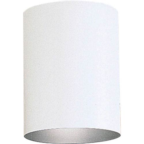 Cylinder White One-Light Outdoor Flush Mount