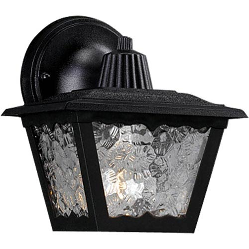 Progress Lighting Polycarbonate Outdoor Black 7.75-Inch One-Light Outdoor Wall Sconce
