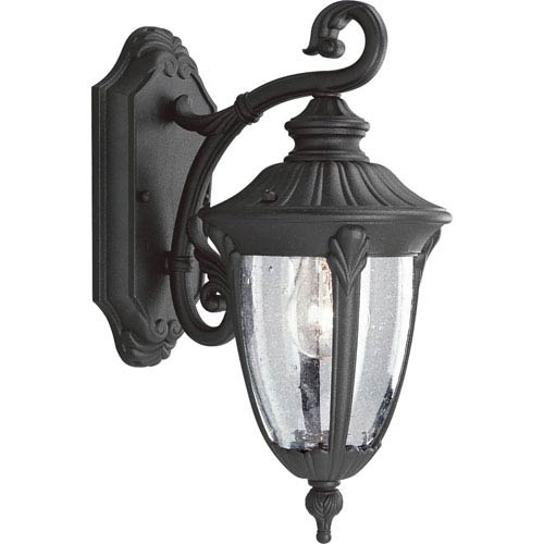 P5820-31:  Meridian Black One-Light Outdoor Wall Lantern