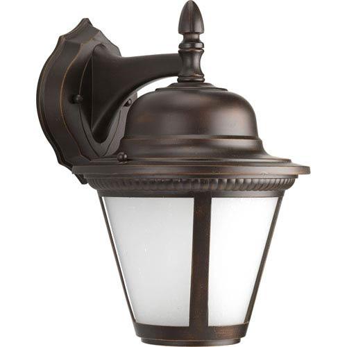 P5863-2030K9 Westport Antique Bronze One-Light Energy Star 9-Inch LED Outdoor Wall Lantern