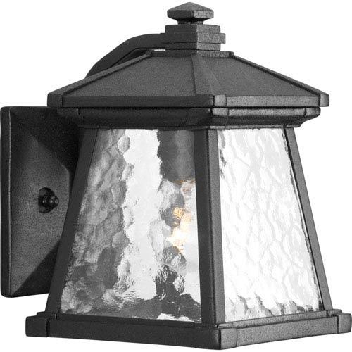 Progress Lighting Mac Black One-Light Outdoor Wall Sconce