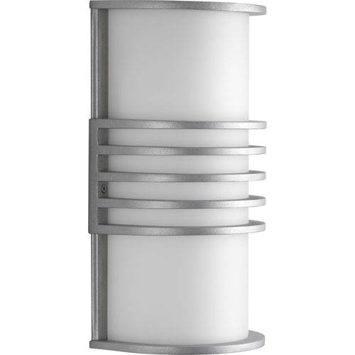 Progress Lighting Parker Satin Aluminum One-Light Wall Sconce with White Acrylic Diffuser