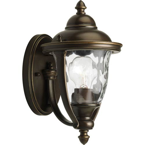 Progress Lighting Prestwick Oil Rubbed Bronze One-Light Outdoor Wall Sconce with Clear optic Glass