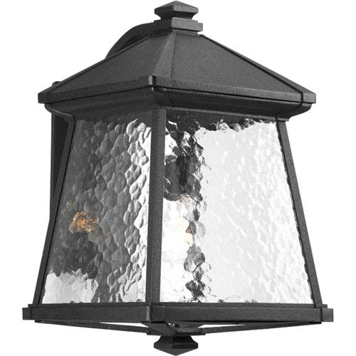 Progress Lighting Mac Black One-Light Large Outdoor Wall Lantern