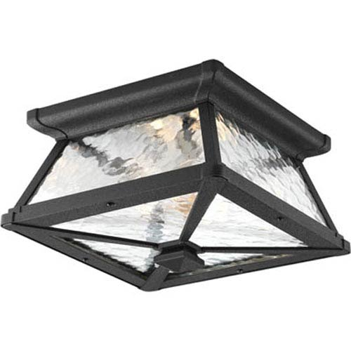 Mac Black Two-Light Outdoor Flush Mount