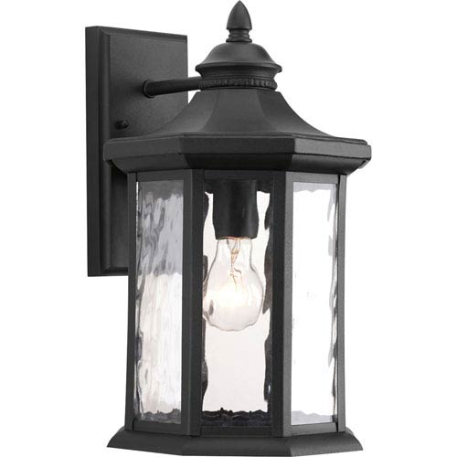 P6072-31 Edition Black One-Light 9-Inch Outdoor Wall Lantern