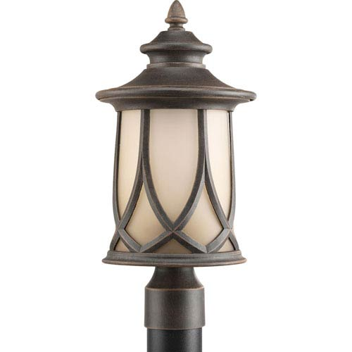 Progress Lighting Resort Aged Copper One-Light Outdoor Post Lantern