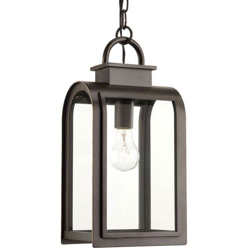 P6531-108 Refuge Oil Rubbed Bronze One-Light Outdoor Pendant