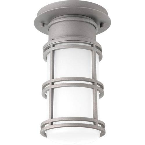P6536-13630K9 Bell Textured Graphite One-Light Outdoor LED Flush Mount