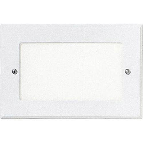 Progress Lighting One-Light White Louver Shatter-Resistant Faceplate Step Lights with White Glass