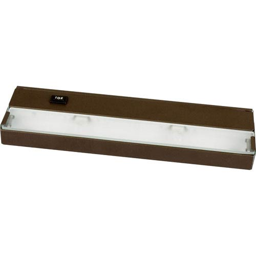 Hide-a-Lite III Antique Bronze Two-Light Undercabinet with Frosted Glass Lens