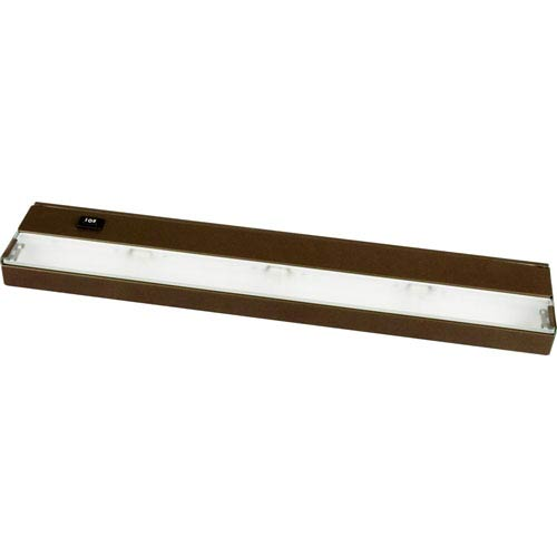 Hide-a-Lite III Antique Bronze Three-Light Undercabinet with Frosted Glass Lens