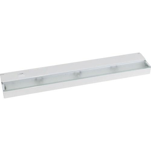 Hide-a-Lite III White Three-Light Undercabinet with Frosted Glass Lens