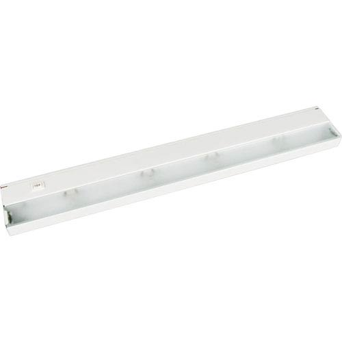 Hide-a-Lite III White Four-Light Undercabinet Light with Frosted Glass Lens
