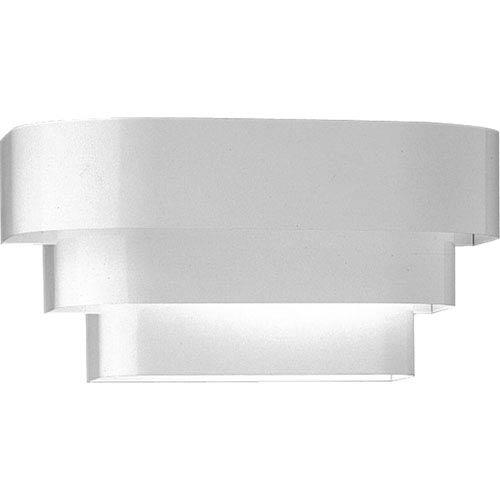 P7103-30:  White One-Light Sconce