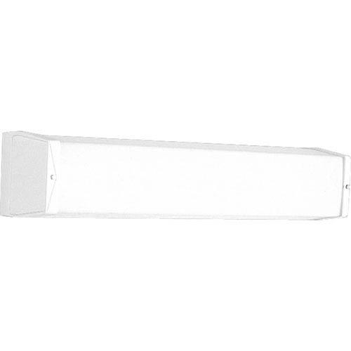 Progress Lighting P7129-30EB:  White Acrylic Two-Light Energy Star Bath Fixture