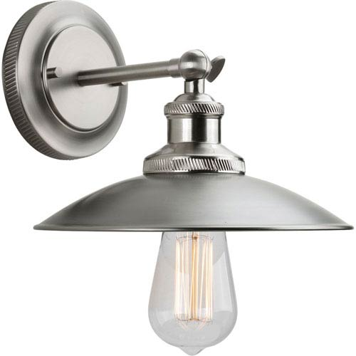 P7156-81 Archives Antique Nickel 9-Inch One-Light Wall Sconce