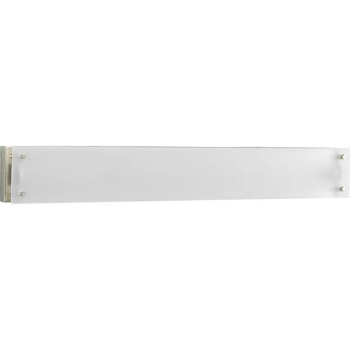 Progress Lighting Linear Fluorescent Brushed Nickel One-Light 37.62-Inch Bath Fixture with Etched Glass