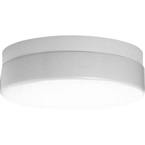 P7372-30STRWB:  White One-Light Energy Star Outdoor Flush Mount