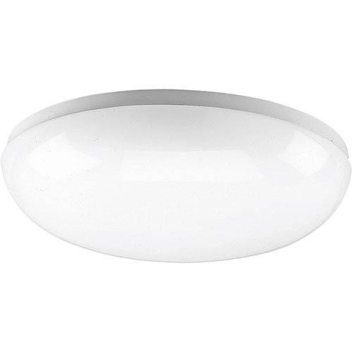 Progress Lighting P7383-30:  White One-Light Fluorescent Ceiling Light