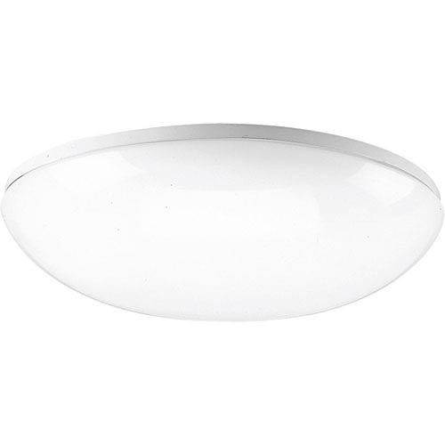Progress Lighting P7384-30:  White One-Light Fluorescent Ceiling Light