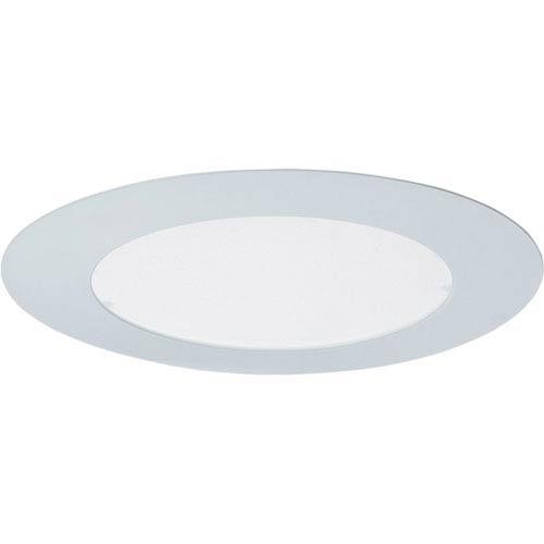 P8033-60FB White Fluorescent Albalite Glass Recessed Trim