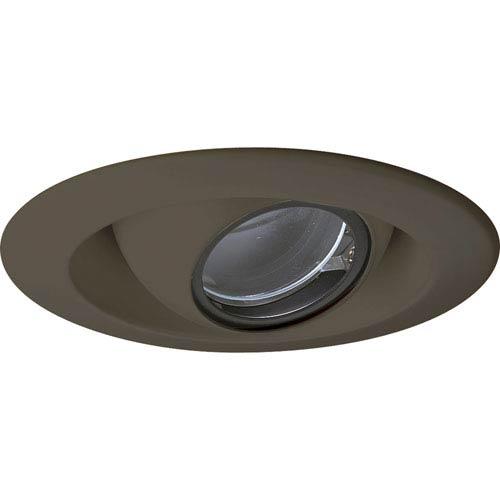 Progress Lighting Pinhole Trim Antique Bronze One-Light Recessed-Trim with Clear Glass