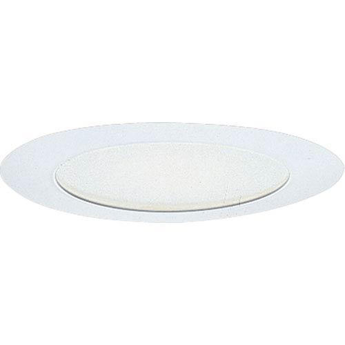 P8060-28:  6-Inch 120V White Albalite Glass Incandescent Trim