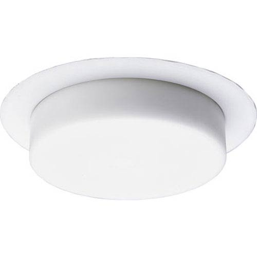 Progress Lighting Shower Trim White One-Light Recessed-Trim