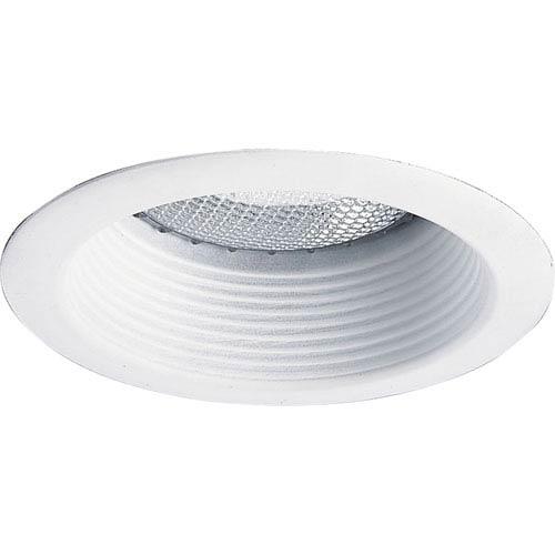 Step Baffle Trim White One-Light IC Recessed-Trim