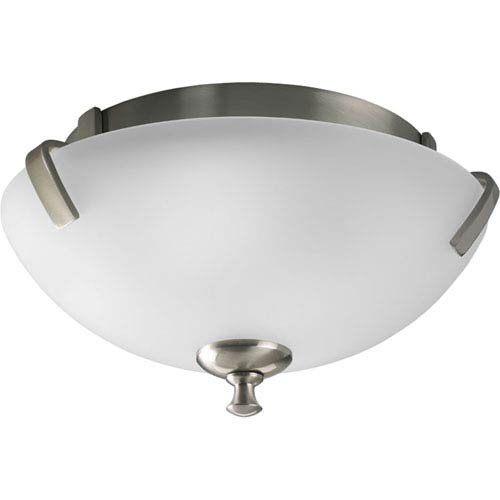 Wisten Brushed Nickel Two-Light Flush Mount