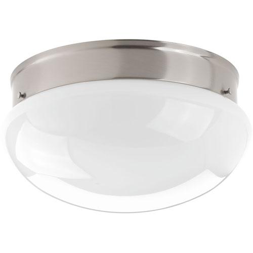 Progress Lighting Fitter Brushed Nickel LED One-Light Flush Mount