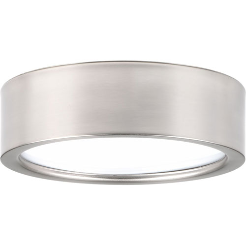 Portal Brushed Nickel LED Nine-Inch One-Light Flush Mount