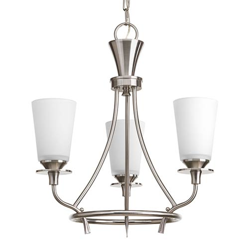 Cantata Brushed Nickel Three-Light Chandelier