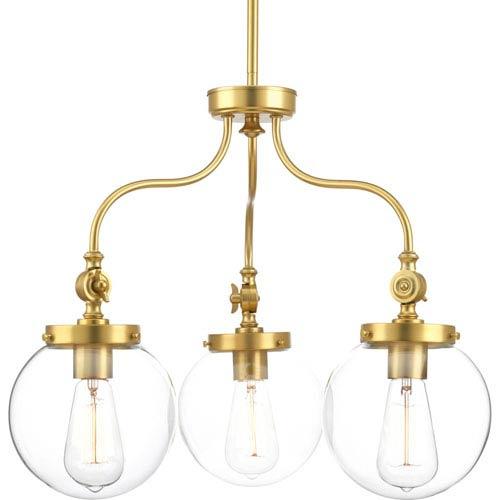 Penn Natural Brass Three-Light Chandelier