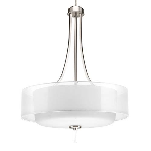 new concept a0b8e 1a548 Invite Brushed Nickel Four-Light Hall and Foyer Pendant