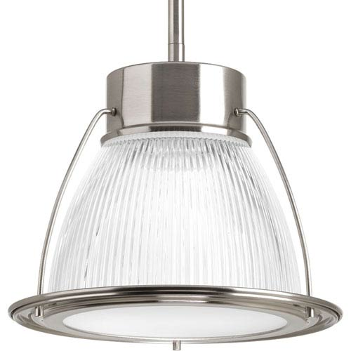 Prismatic Glass Brushed Nickel LED One-Light Mini Pendant