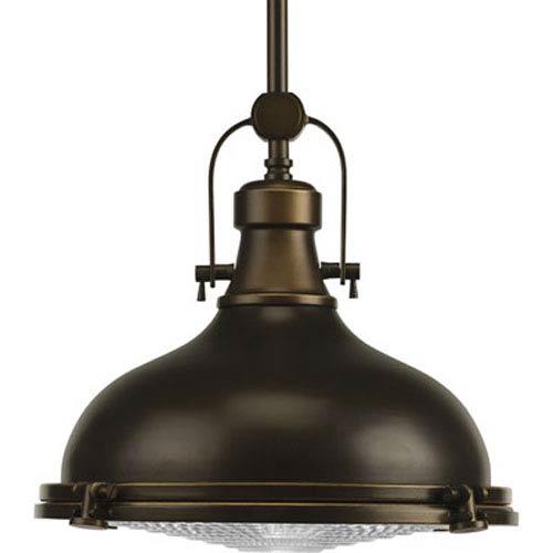 P5188-108:  Fresnel Lens Oil Rubbed Bronze One-Light Pendant