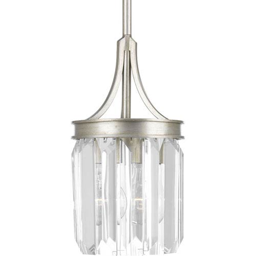 Glimmer Silver Ridge One-Light Mini Pendant